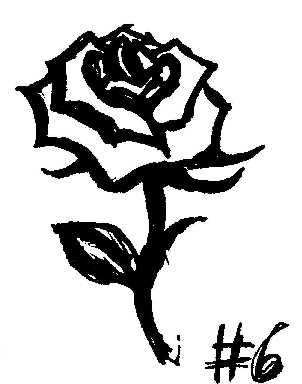 Dessin I053 1998 Fleur Rose